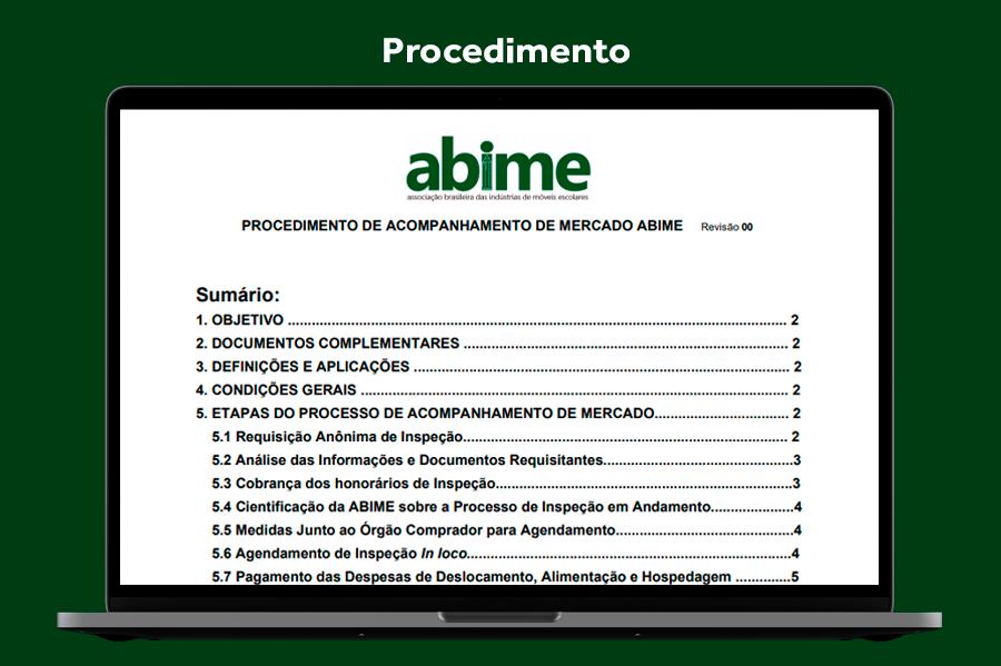 Procedimento de acompanhemento de mercado ABIME